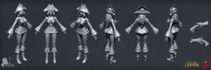 Riot contest Miss Fortune sculpt by DmitryGrebenkov