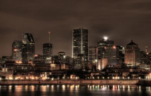 Montreal Skyline by squarepush
