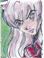 Inuyasha Watercolor Painting2 by vanmaniac