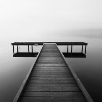 Wooden pontoon by laurentdudot