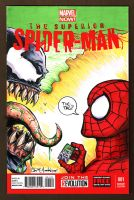 Superior Spider-Man Sketch Cover Venom Tic Tac by ChrisMcJunkin