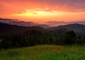 Sunrise Mountains Rarau by lica20
