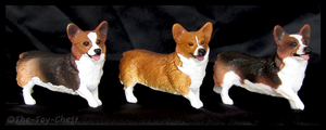 Breyer Companion Animals - Pembroke Welsh Corgis by The-Toy-Chest