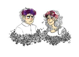 PJO: Flower Crowns by AiniBluebell