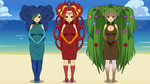 Goddesses of Earth, Fire, and Water by xSamiamrg7x