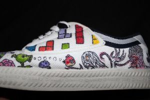 GamingShoes Plants vs Zombies by camriess