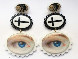 Mysticism Cameo Earrings Laser Cut Acrylic by asunder