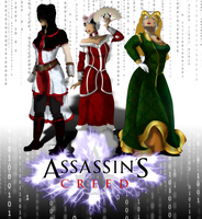 +The Assassin, the Maiden and the Crone+ by MewberryCake