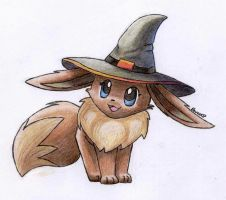 Halloween Eevee X3 by Togechu