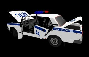 Ru police car by 32Rabbit