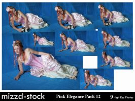 Pink Elegance Pack 12 by mizzd-stock