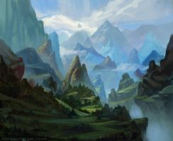 Slopes of Hithaeglir Lord of the Rings card game by YogFingers