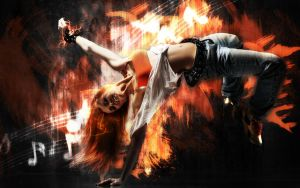 Street Dance Girl by Poldas