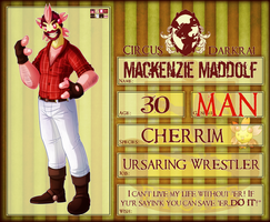 Circus Darkrai : 2nd Character : Mackenzie Maddolf by VoxRobotics