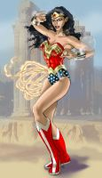 Wonder Woman- Battle Stance BG by DragonArcher