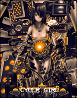 Cyber girl by Anzert