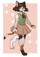 Calico catgirl : comm by Corelle-Vairel