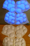 White k9 UV pawpad set by Monoyasha