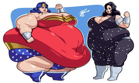 Commission - Wonder Woman and Donna Troy by Grim-Kun