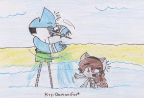 Big brother and little sister water game by RegularBluejay-girl