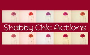 Shabby Chic action set by chupla