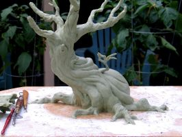 tree sculpture WIP back by RandyHand