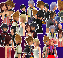 KH Couples-MMD by danit09182