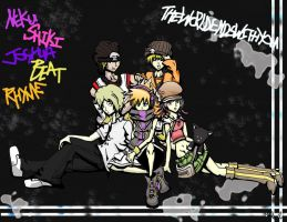 TWEWY Group Pic: Graffiti by Saiya-STORY