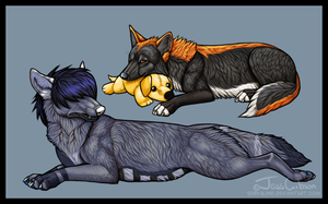 WolfHome Pose Commissions by Servaline