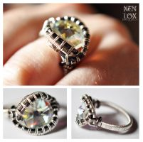 White Crystal Ring by XenOhm