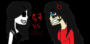 CJ vs Jane by JEFF-the-shy-killer