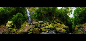 Middle Falls Panorama by WiDoWm4k3r