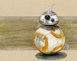 The Force Awakens - BB-8 Sketch by Geekincognito