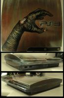 PS3 Slim Zombie hand mod by Raskha