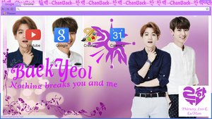 EXO ChanBaek exclusive edition Chrome theme by Yilong-susica
