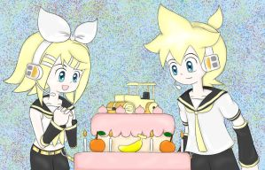 Happy Birthday Rin Len 2013 [COLLAB] by snowsparklegems