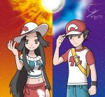 Red and Leaf Alola by sonic107