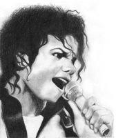 Michael Jackson Sketch by Waxflower