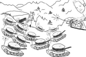 The Burger King's Burger Army by exintrovert