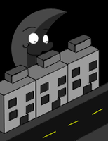 pixel art street by omegaproductions