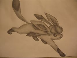 Glaceon Drawing - Full by sazmullium