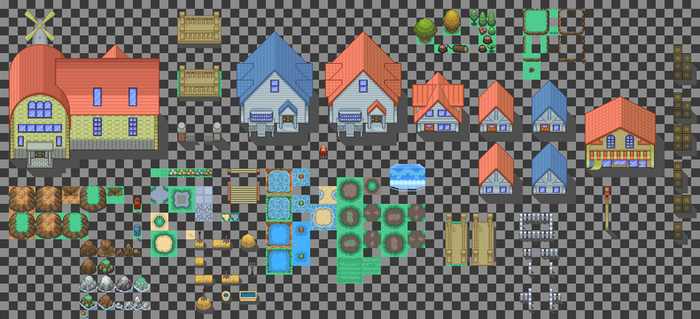 Pallet town tiles by Alucus