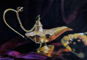 The Genie of the Lamp by goldenConnpass