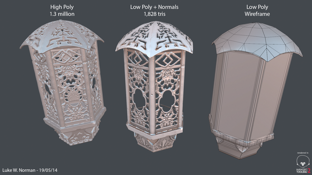 Chinese-esque Lantern Asset by LWNorman
