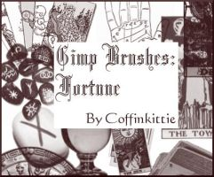 Gimp Brushes: Fortune by coffinkittie