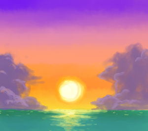 Cloudy Sunset by FlameBrandt