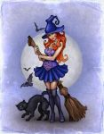 Witch, Halloween illustration by Sundra-Art