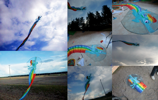 MLP - Rainbow Dash-kite by Myrling
