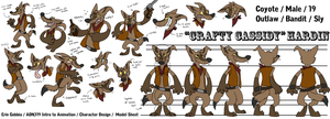 Cowboy Coyote - Model Sheet by ChaosCanine