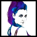 Painting- Amy Lee II. by Ennete